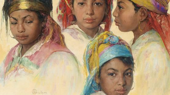 Emile Deckers - Etudes de Têtes (Detail) - image via sothebyscom