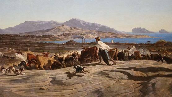 Emile Loubon - Vue de Marseille (Detail) - image via wikimediaorg