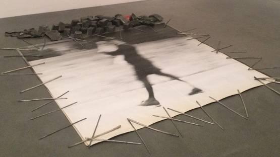 Emilio Prini - Paperweight, 1968, installation view at Tate modern, photo via dai-ism tumblr com