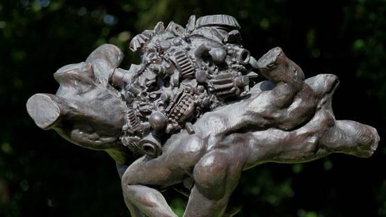 Enzo Plazzotta - Warriors (Detail) - image via thesculptureparkcom
