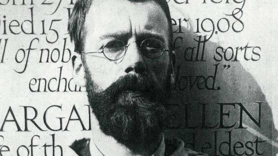 Eric Gill's Portrait - image via otago.ourheritageacnz