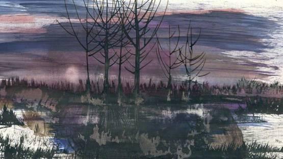 Erich Hausladen - Winteraben - Winter Evening, 1971 (detail)
