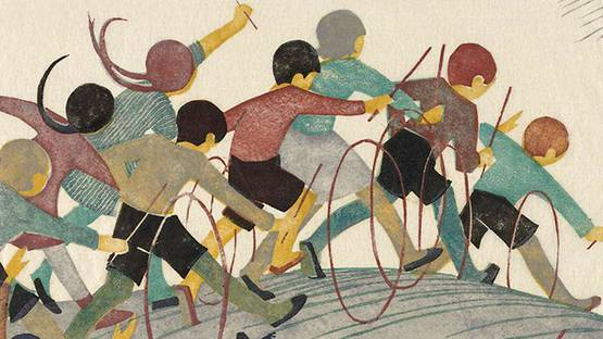 Ethel Spowers - Children s Hoops (detail) - photo credits - Book Room ARt Press