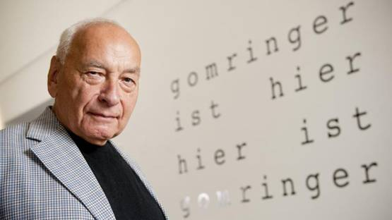 Eugen Gomringer's Portrait - image via strauhofch