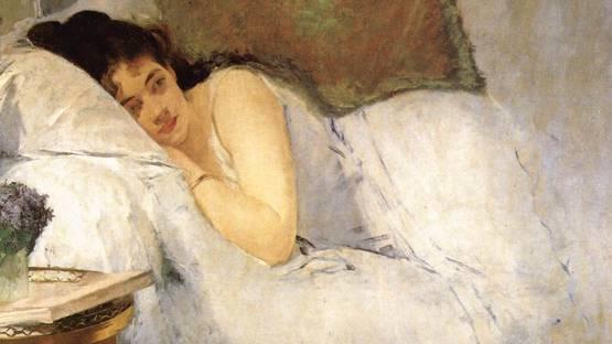 Eva Gonzales - Morning Awakening (detail), 1876 - image via commonswikimediaorg