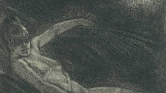 Félicien Rops - Détritus humain, 1906 (detail)