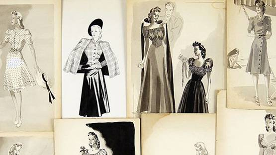 Florence Pollard - Collection on 1940's Fashion Designs (detail)