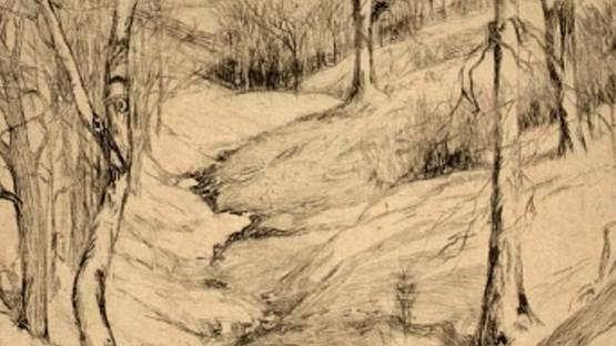 Frances Farrand Dodge - A Ravine, 1934 (detail)