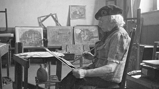 Frances Hodgkins in her studio - Courtesy of the Artist