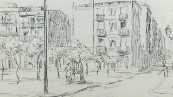 Francesc Garcia Estragues - Plaza (detail), 1945, photo credits - Subarna