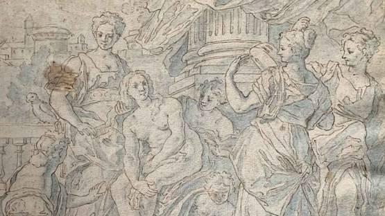 Francesco de Mura - Bathsheba at Her Bath, ca 1725 (detail)