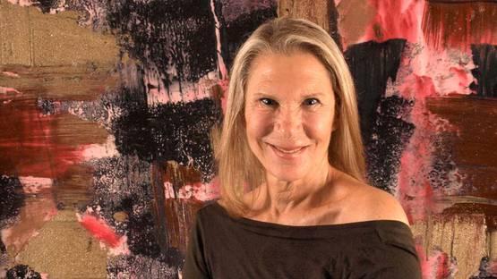 Francine Tint - Artist in her studio - Image courtesy of the artist