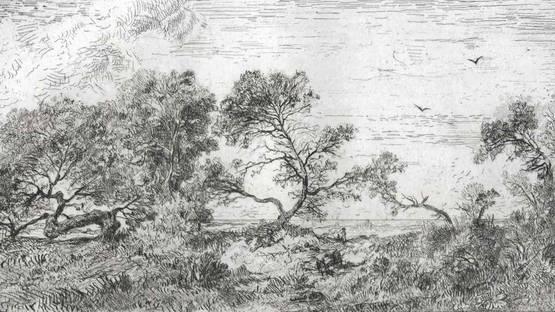 Francisque de Saint-Etienne - Souvenir des Îles Baléares. Formentera., 1860 (detail)