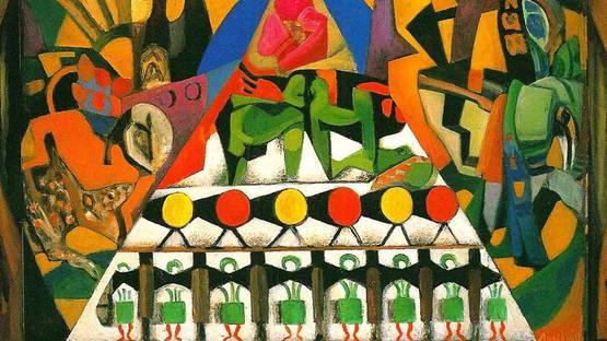 Francois Angiboult - Composition (detail), 1920, photo via sectiondorwordpress