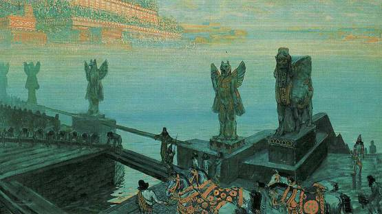 Frantisek Kupka - Babylon (detail), 1906, photo via Wikiart