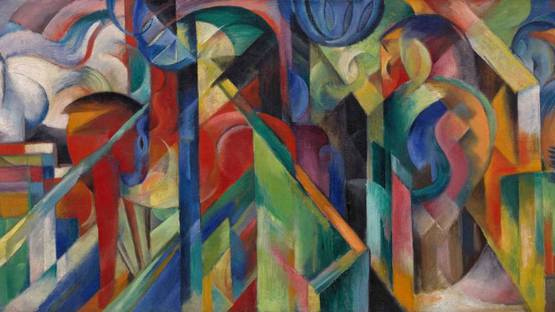 Franz Marc - Stables, 1913 - image via Guggenheim