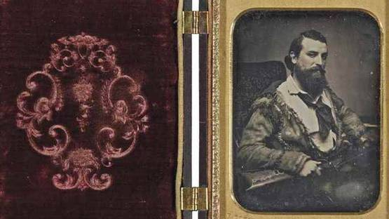 Frederick Coombs - Trapper (detail), circa 1850 - image via christiescom