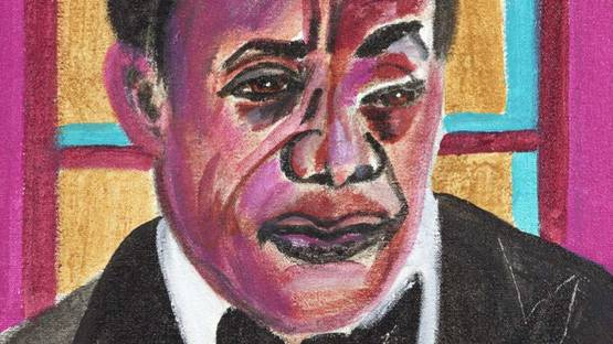 Frederick J. Brown - James Baldwin, 2008 (detail)