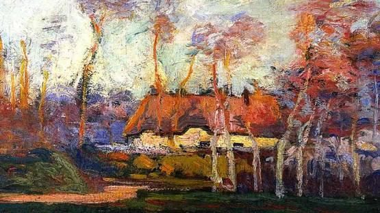 Friesz Othon - The Cottage (detail), 1901, image via Wikiart