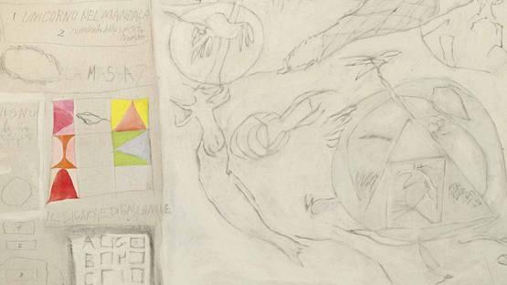 Gastone Novelli - Soror mistica (detail)