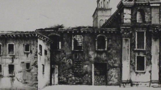 Gebhard Schwermer - Fabrikgebäude (detail), 1984 - image courtesy of Sylvan Cole Gallery