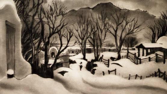 Gene Kloss - January Evening (detail) - 1944