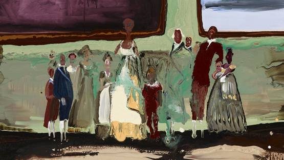 Genieve Figgis - Goya's Commission (detail), 2015 - image courtesy of Almine Rech Gallery