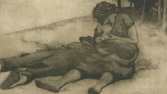 Georg Erler - Stillende Frau, 1905 (detail)