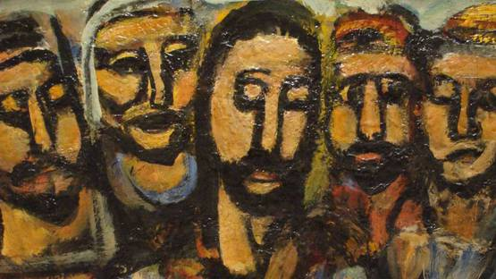 Georges Rouault - Christ and Apostles, 1937-38 (detail)
