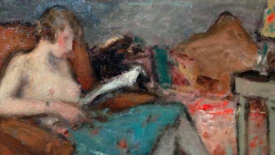 Georges d'Espagnat. Nude looking at pictures