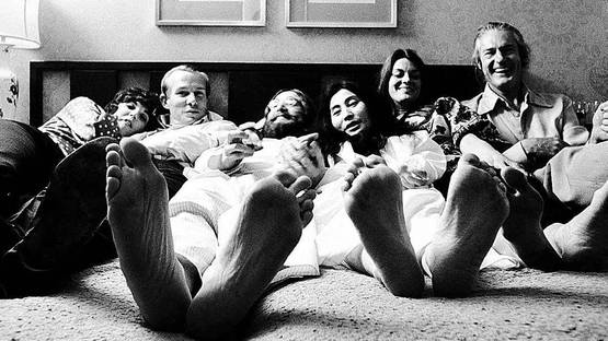 Gerry Deiter - They couldn't believe they had gone a week without shoes! Give Feet a Chance caused uproarious laughter, 1969 (detail)