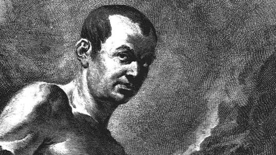 Giovanni Battista Piranesi - Self-portrait, 1760 (Detail) - Image source Uncube Magazine
