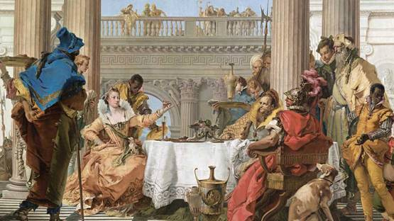 Giovanni Battista Tiepolo - The Banquet of Cleopatra, 1743 (detail)