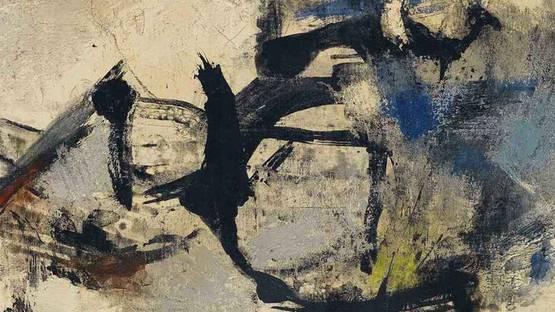 Giuseppe Santomaso - Bianco e nero di Spagna, 1959 - Image source Wikiart