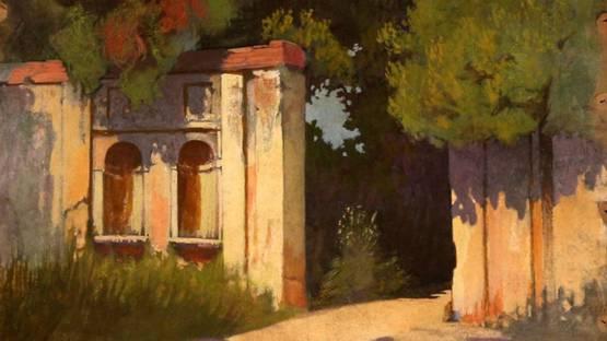 Giuseppe Pellizza da Volpedo - Entrance to the park (Villa Ada), 1901 (detail)