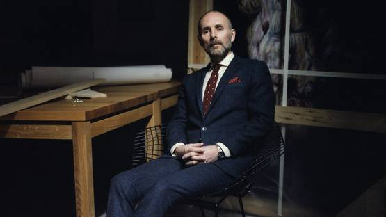 Glenn Brown - Artist's portrait (detail) - Photo by Will Corry