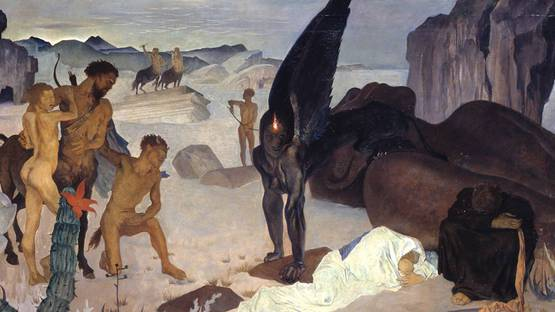 Glyn Warren Philpot - Repose on the Flight into Egypt (Detail), 1922 - image via tateorguk