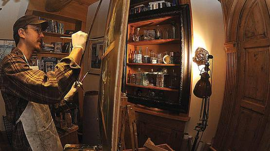 Gregory Block in his studio (detail) Image copyrights © Tom Ross for Steamboat Today