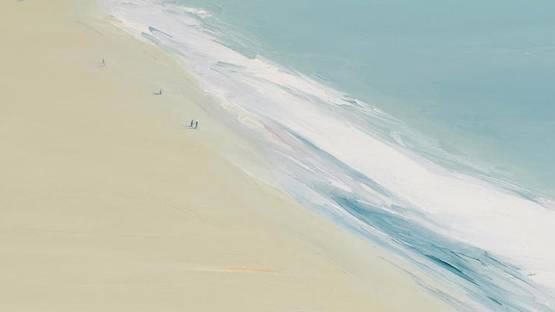 Gregory Kondos - Beach (detail), 1975 - image via bonhamscom
