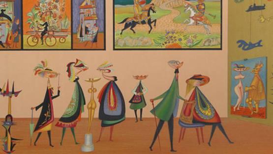 Guillermo Silva Santamaria - Galleria (detail), c.1965, photo via rogallery com