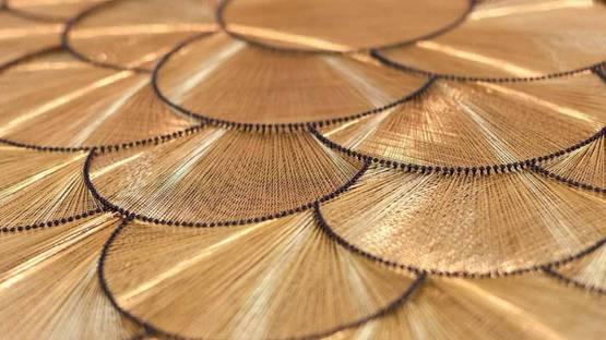 Gulay Semercioglu - Golden Circles (detail), 2012. Image via Leila Heller Gallery