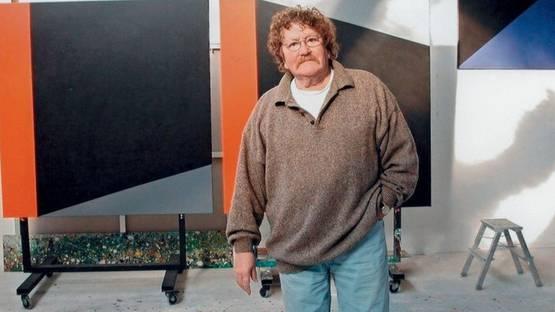 Gust Romijn - in his studio, 2002, photo via gustromijn com