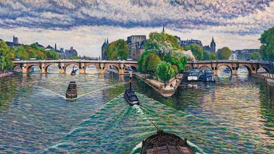 Gustave Cariot - Les Remorqueurs, Photo Credits sothebys.com