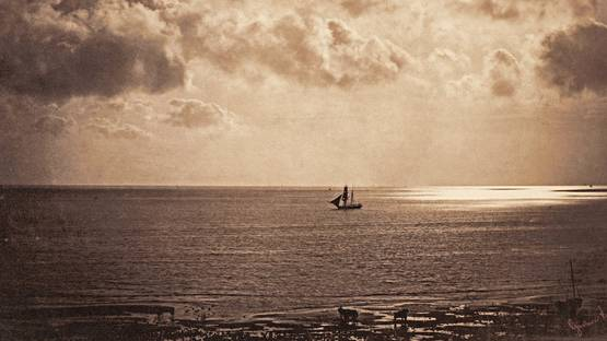 Gustave Le Gray - Brig upon the Water (detail), 1856 - image via wikimediaorg