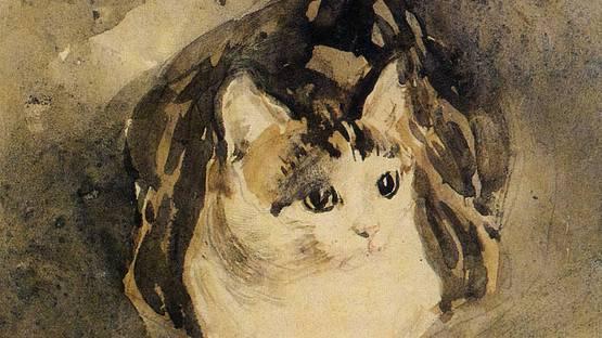 Gwen John - The Cat (Detail) - image via wikimediaorg