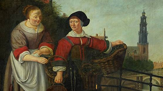 H. Van Der Meulen - Meeting on the Bridge (detail)