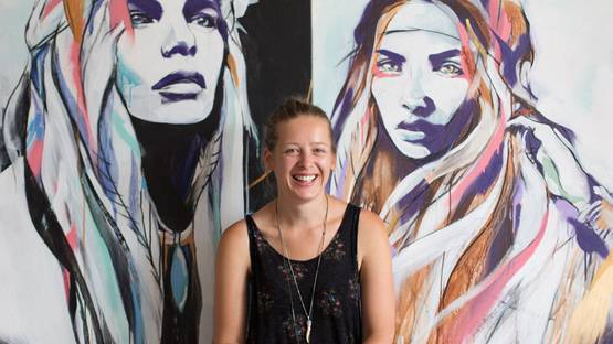 Hannah Chloe - portrait (detail) - photo credits Corin Brown, via crimsoncocoonwordpresscom