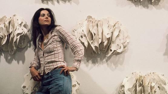 Hannah Wilke and Ponder-r-rosa 4,White Plains Yellow Rocks, 1975, Museum of Modern Art, NY