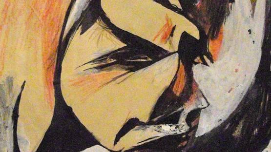 Hans Richter - Portrait de Lou Mrten Hans Richter (detail), photo via wikiart