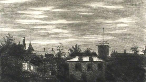 Hans Meid - Steglitzer Mondnacht, 1918 (detail)